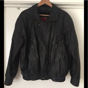 Other - Vintage Leather Biker Jacket with Shell Lining